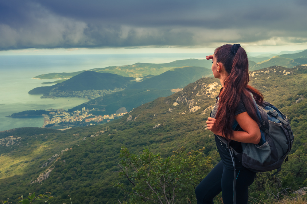 Woman Posing Hiking